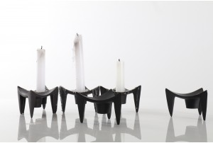 "Jens Qvistgaard Modular 'Triangle"" Candlestick Holders"