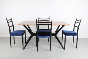 G-Plan 'Tola and Black' Dining Suite