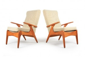Two Airest Rocket Style Armchairs