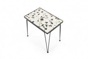 John Crichton Side Table - Black and White