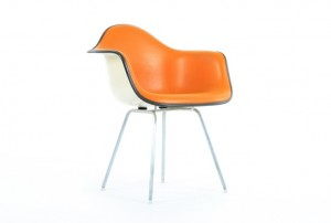 Orange Eames DAX Chair for Herman Miller