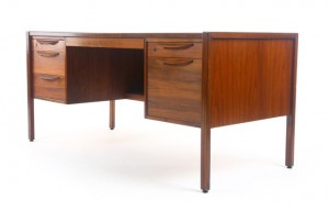 Jens Risom Walnut Desk