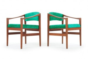 DUX Teak Side Chairs by Backhouse