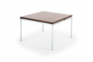 Florence Knoll Rosewood and Chrome Coffee Table – Square