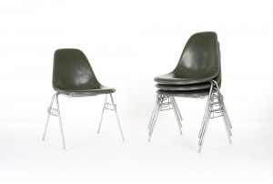 Six Eames DSS Chairs for Herman Miller