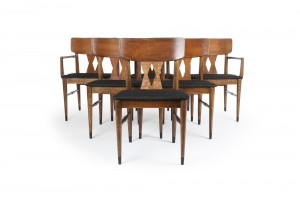 Six American Modern Dining Chairs
