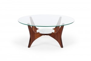 Adrian Pearsall Walnut and Marble Coffee Table