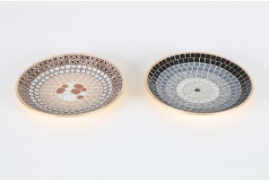 Mid Century Mosaic Tile Dishes