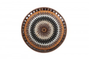 XL John Crichton Organic Mosaic Charger | Caramel / Licorice / Tan