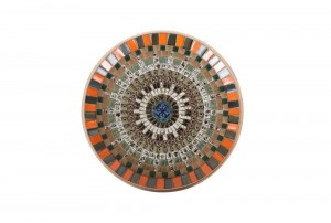 John Crichton Mosaic Tile Dish | Orange / Black / Teal