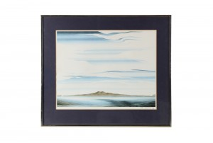 John Crichton Rangitoto Watercolour Print