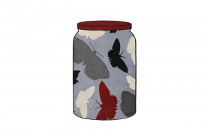 Richard Killeen Jar Rug (Butterflies) for Dilana