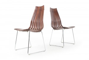 Four Hans Brattrud 'Scandia' Dining Chairs for Hove Mobler