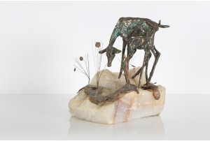 Curtis Jere Deer Table Sculpture