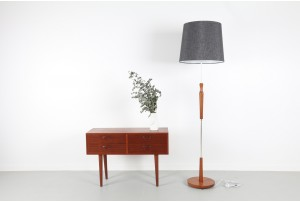 UK Modern Teak Floor Lamp