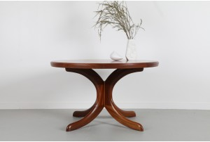Danish Teak Pedestal Coffee Table