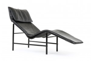Swedish Leather Chaise Lounge