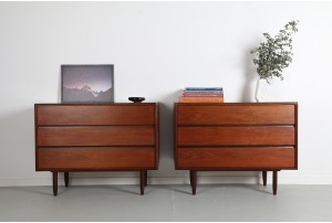 Pair of Punch Design Teak Drawers