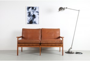 Illum Wikkelso Leather 'Capella' Sofa for N. Eilersen