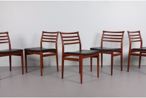 Six Dining Chairs by Erling Trovits for Soro Stolfabrik