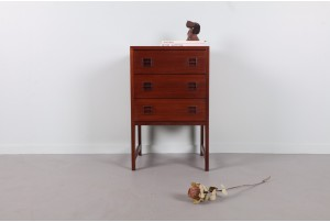 Mid-Century Linear Bedside Table