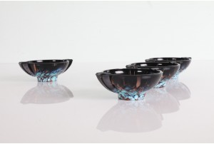 Weil Venetian Blue and Copper Trinket Dishes