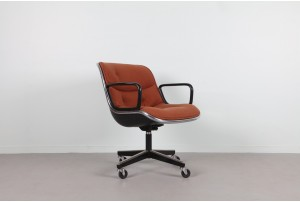 Charles Pollock Executive Chair for Knoll in Wool
