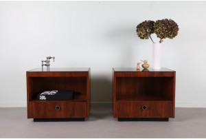 Pair of Lane American Bedside Cabinets