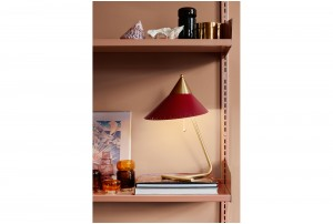 Warm Nordic 'Brass Top' Table Lamp