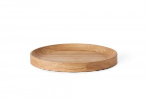 Warm Nordic Carved Wood Tray