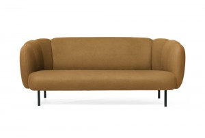 Warm Nordic Scalloped 'Cape' 3 Seater Sofa