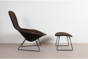 Harry Bertoia 'Bird' Chair and Ottoman