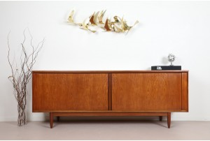 Danish Teak Tambour Door Sideboard