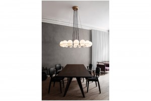 Astep/Flos 'Le Sfere' Model 2019 Chandelier by Gino Sarfatti