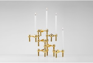 Stoff Copenhagen Model S22 Candle Holders – Brass