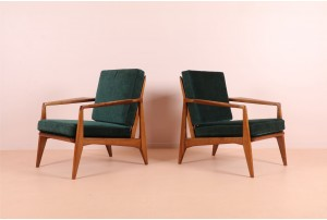 Sharp Danish Organic Armchairs