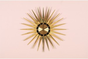 Ingraham Gold Starburst Clock