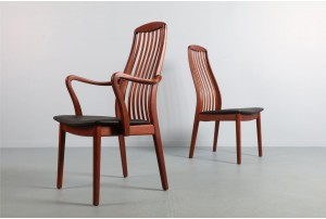 Six Elegant Schou Andersen Dining Chairs
