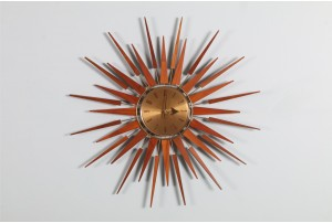 Seth Thomas 'Starflower' Starburst Clock with Black Hands