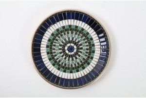 John Crichton Mosaic Tile Plate | Blue / White / Green