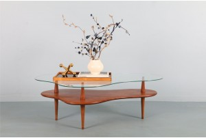 Bob Roukema Mahogany Cloud Coffee Table for Jon Jansen
