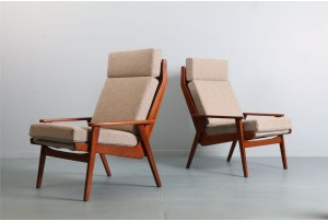 Pair of DON Boomerang Frame Armchairs