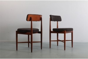 Four G-Plan 'Fresco' Round Dining Chairs