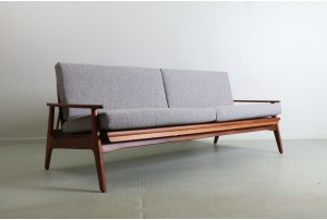 DON Folding Sofa Daybed with Rattan Back