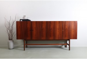 Impressive Linear Sideboard by Ib Kofod Larsen (Attr) for Faarup