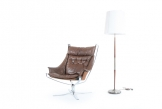 Rosewood and Steel Floor Lamp