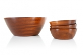 Set of 4 Brenda Bridget Mahogany Bowls