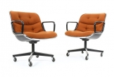 Charles Pollock Executive Chairs for Knoll in Wool