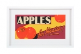 Framed Vintage Fruit Poster 'Apples'