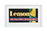 Framed Vintage Fruit Poster 'Lemons'